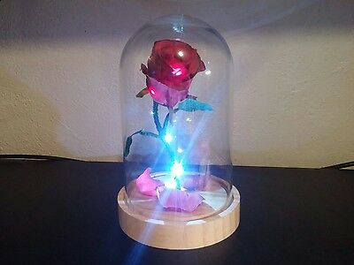 Beauty and The Beast LED enchanted rose replica