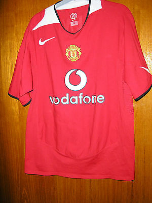 Manchester United Football Shirt Home 2004/6 size M 39/41 McKenzie 1 in felt
