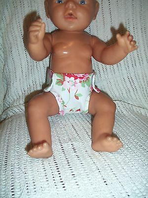 Hand Made Reusable  Nappy For Baby Born Or Similar 16-18Ins Doll
