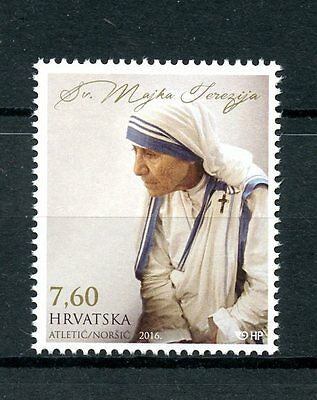 Croatia 2016 MNH Mother Teresa Proclamation as Saint 1v Set Religion Stamps
