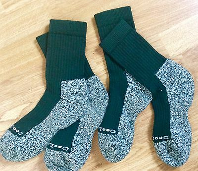 2pairs Mens/Ladies Coolmax/Cotton hiking walking socks 5-6 Dark Green only £9.95
