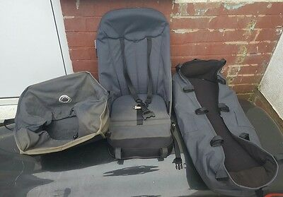 Bugaboo cameleon 1 and 2 fabric set seat carrycot shopping basket