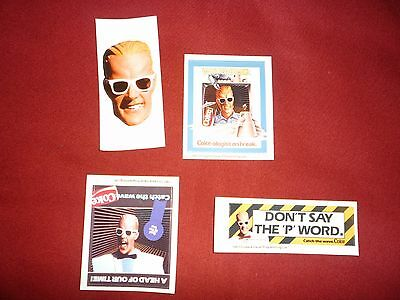 8 Total 2 each of 4 Different Max Headroom Stickers,1980's Coca-Cola, NEW 2 sets
