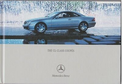 Mercedes CL coupe C215 W215 Hardback Brochure & Price List CL500 CL600 CL55 AMG
