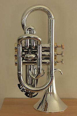 Tromba Plastic Bb Cornet Silver and Gold CLEARANCE PRICE