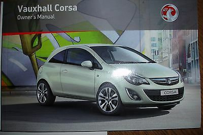 Vauxhall Corsa Owners Hand Books Manual 2011 Plus Wallet