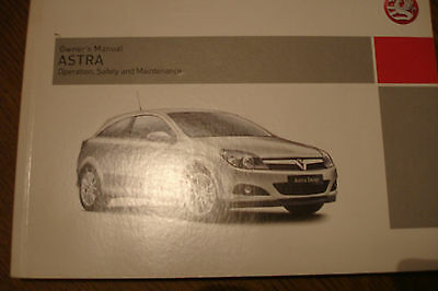 2007 vauxhall astra 3 door owners manual handbook pack