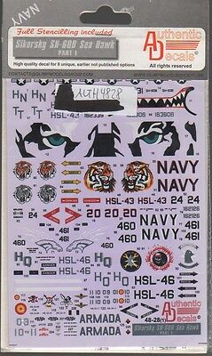 Sikorsky Sh-60B Sea Hawk Authentic Decals 4828 1/48