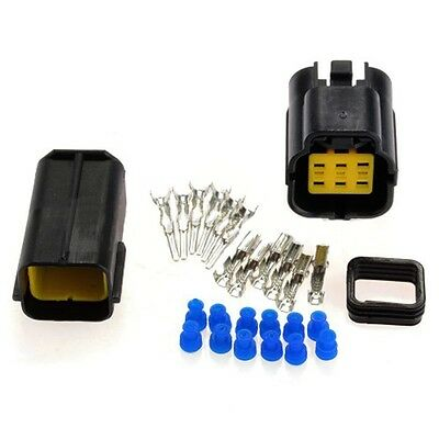 1 Kit 6 Pin Way Waterproof Wire Connector Plug Car Auto Sealed Electrical Set