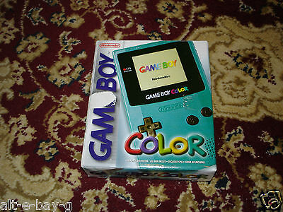 Gameboy Color Console System PAL teal turquoise *RARE BRAND NEW FOR COLLECTORS*