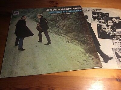 Simon And Garfunkel Sounds Of Silence Uk Press Orange Label With Inner