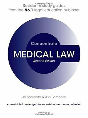 Medical Law Concentrate Book by Samanta  Jo (Paperback) 9780198759195