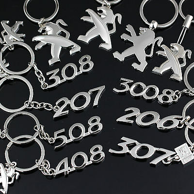 new Peugeot light/Matt/206/207/307/308/3008/408/508 keychain car logo keyring