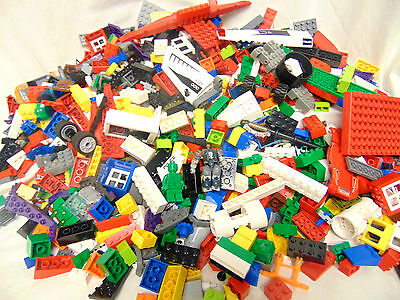 Lego 4lbs Mixed Assorted Lot of Bricks & Building Parts & Pieces & Some Figures