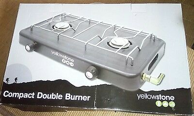 *Yellowstone*   Compact Lightweight Double burner   Portable Gas camping  Stove