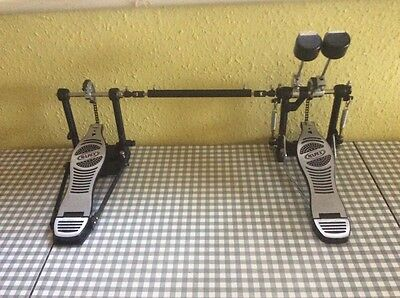 Mapex P380A Double Bass Drum Pedal With Spare Tri Tonal Beater.