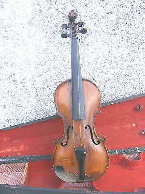 Rare Antique Jacobs Amsterdam Labeled Violin  With   Case