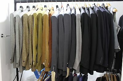 Lot worth £60k of various New mens SAVILE ROW Suits/ Jackets/ Blazers/ Trousers