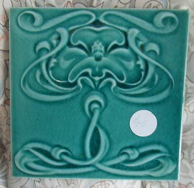 "Original  English  Art Nouveau tile , c1905/6 6""x6""Tile 1194"
