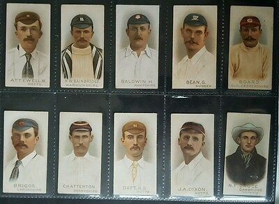 W. D. &  H. O.  Wills  Ltd.  - Set Of 50 Cards  -  Cricketers - 1896