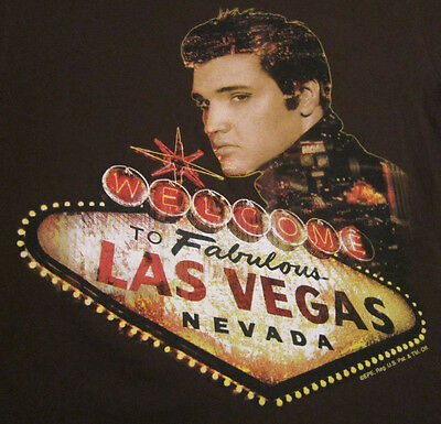 ELVIS PRESLEY photo Welcome to Fabulous Las Vegas sign music concert-style shirt