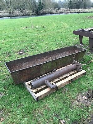 2.1m Old Vintage Antique Heavy Duty Cast Iron Trough With Water Pump