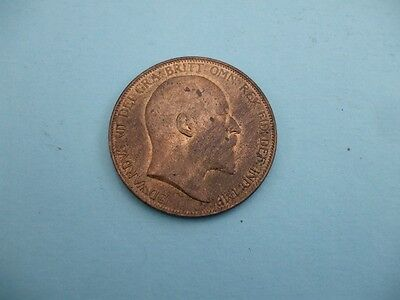 Edward Vii 1904 Penny With Lustre Very High Grade Coin.