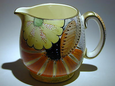 Art Deco Grays Susie Cooper style Jug gilded & hand painted A2112 signed 'Dora'