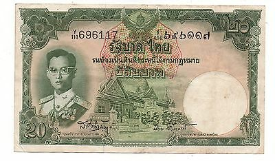 Vintage Thailand 20 Baht Banknote
