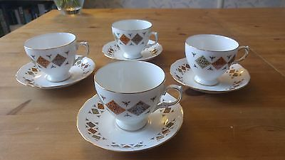 Bone China Teacups and Saucers- Colclough 8198 - Made in England