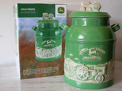 John Deere Tractor Collection Officially Licensed Stoneware Milk Can Cookie Jar