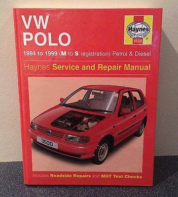 VW Polo Haynes Workshop Service Manual 1994 to 1999 M to S Reg 3500
