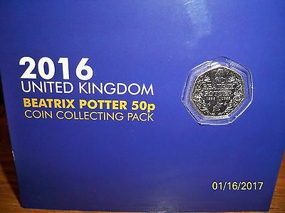 2016 Beatrix Potter Coin Collecting Pack & All 5 Coins + A Battle Of Hasting 50P