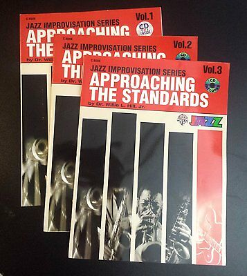 Approaching the Standards Vols 1, 2 & 3 Jazz Tuition (3 Books, 3 CDs) C editions