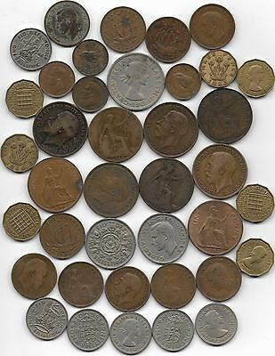Collection of british coins.  (38)