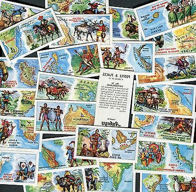"""Askeys 1968 Set Of 25 """"people & Places"""" Trade Cards"""
