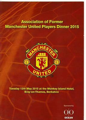 Manchester United Menu  -  Association of Former Manchester United Players 2015