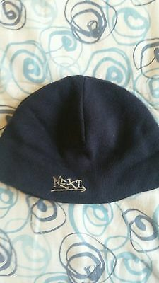 Boys Navy blue knitted Beenie hat by Next. Age 3-6 Years