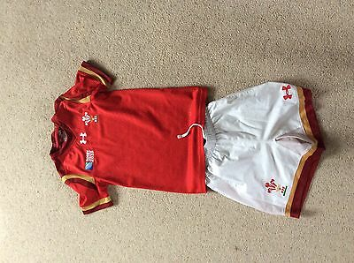 Kids Welsh 2015 rugby World Cup kit - youth small.