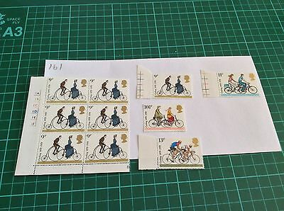 GB 1978 Cycling Stamp Blocks Mint MNH Unfolded (161)