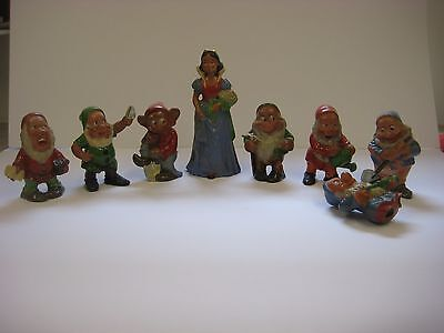 Snow White and the Seven Dwarfs teracotta figures