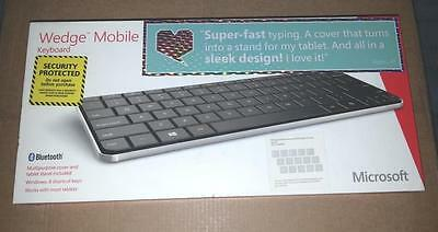 Brand New Microsoft Bluetooth Wedge Mobile Keyboard (with stand) UK MSRP £79.99