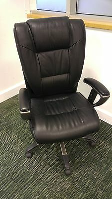 Computer Executive Office, Leather Swivel Chair, High Back