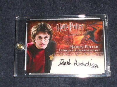 Harry Potter GoF Daniel Radcliffe Hand-Signed Autograph Auto Trading Card New