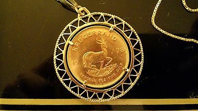 ***1oz GOLD Krugerrand 1978, Chain-mounted***