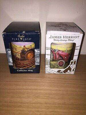 2x Boxed Vintage Border Fine Arts Collectors Mugs James Herriot Fine Bone China