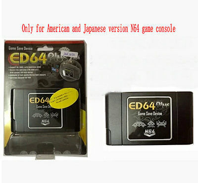 ED64plus Adapter Portable Video Game System Game& Save Device with 8G SD card