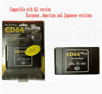 PAL/NTSC ED64 plus  Game Save Device compatible 8G SD Card Adaptor for 64 games