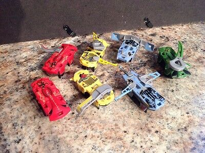 Lot Of Seven Hexbug Warriors With Accessories All Work Great