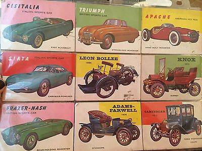 Vintage Collectible Car Cards--TCG In USA--Lot Of 9